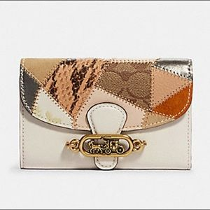 COACH Patchwork Jade Trifold Envelope Wallet